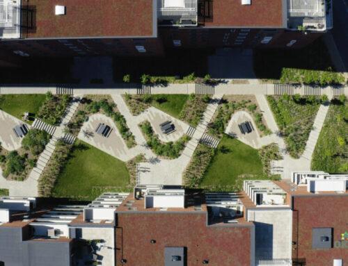 Dronevideo af anlægsentreprise i byen