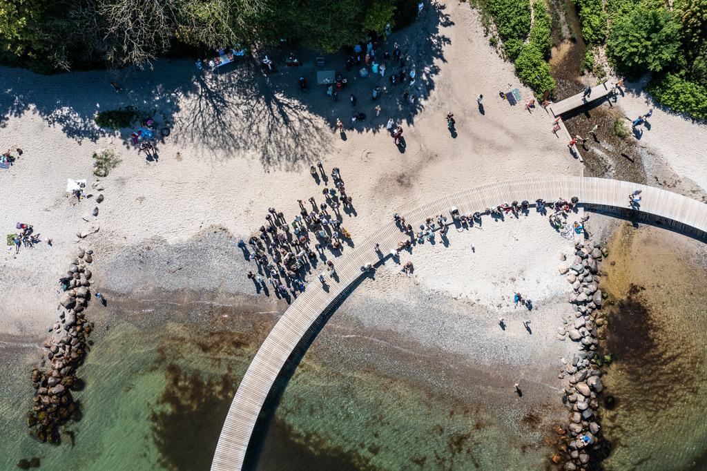 Dronefotografering borgerlig vielse
